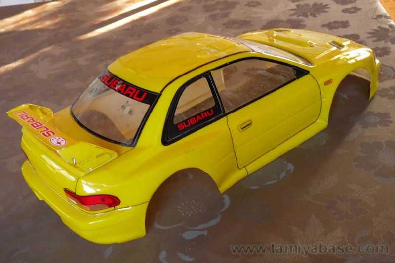 body came from Tamiya kit 58259, German rally champion '99