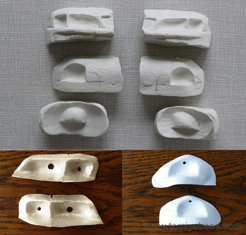 Light bucket moulds
