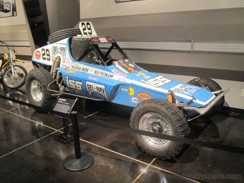 """Bel-Ray Bullet"" driven by Bud Feldkamp and Malcolm Smith in museum"