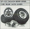 Tamiya 50120 ROUGH RIDER SPARE TYRE REAR WITH WHEEL