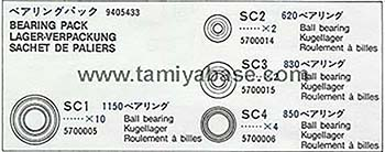 Tamiya BEARING PACK 19405433