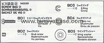 Tamiya SCREW BAG D 19465399