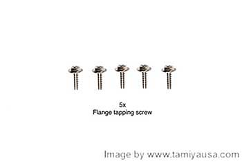Tamiya 3X10mm FLANGE TAPPING SCREW 19805662