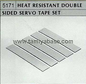 Tamiya HEAT RESISTANT DOUBLE SIDED SERVO TAPE SET 50171