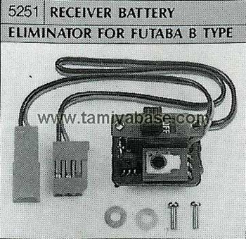 Tamiya RECEIVER BATTERY ELIMINATOR FOR FUTABA B TYPE 50251