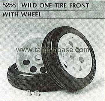 Tamiya WILD ONE TIRE FRONT WITH WHEEL 50258