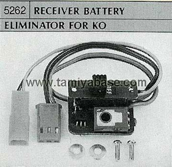 Tamiya RECEIVER BATTERY ELIMINATOR FOR KO 50262