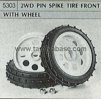 Tamiya 2WD PIN SPIKE TYRE FRONT WITH WHEEL 50303