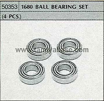 Tamiya 1680 BALL BEARING SET (4 PCS.) 50353