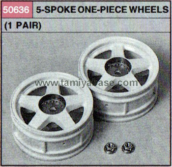 Tamiya 5-SPOKE ONE-PIECE WHEELS x 2 50636