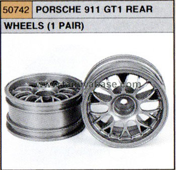 Tamiya PORSCHE 911 GT1 REAR WHEELS x 2 50742