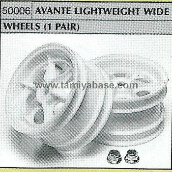 Tamiya AVANTE LIGHTWEIGHT WIDE WHEELS 53006
