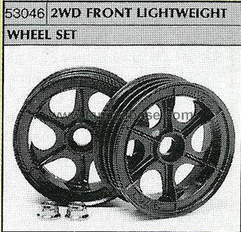 Tamiya 2WD FRONT LIGHTWEIGHT WHEEL SET 53046