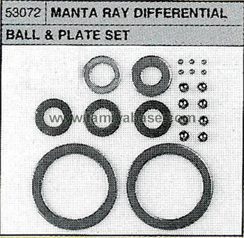 Tamiya DIFF BALL/PLATE SET 53072