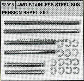 Tamiya 4WD STAINLESS SUSP SHAFT ST 53098
