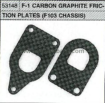 Tamiya F-1 CARBON GRAPHITE FRICTION PLATES 53148