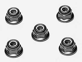 Tamiya 4mm FLANGE LOCK NUTS RED 53160