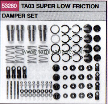 Tamiya TA03 SUPER LOW FRICTION DAMPER SET 53280