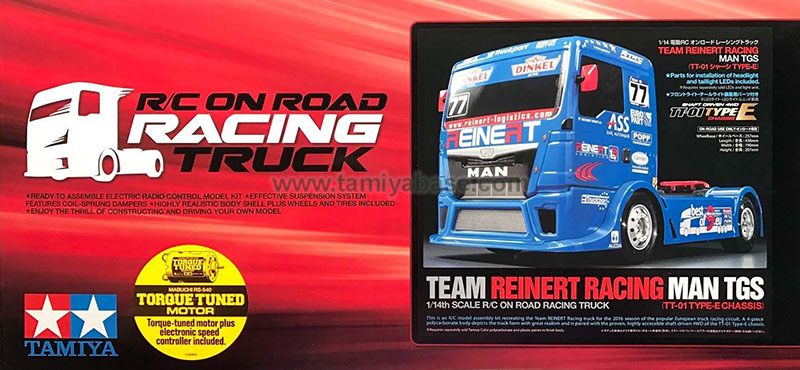 Tamiya Racing Truck Team Reinert Racing MAN TGS 58642