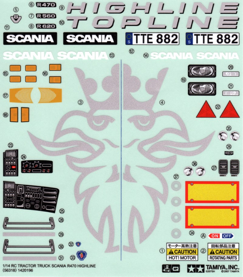Tamiya 56318_1 Scania R470 Highline thumb 1