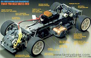 Tamiya TA03F Pro Belt Drive 4WD Racing Car Chassis Kit 58177