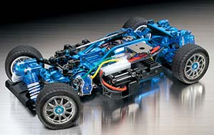 Tamiya M-05 PRO chassis kit (Blue-plated version) 84131