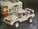 Tamiya promotional video Audi Quattro Rally and Opel Ascona 400 Rally 58036
